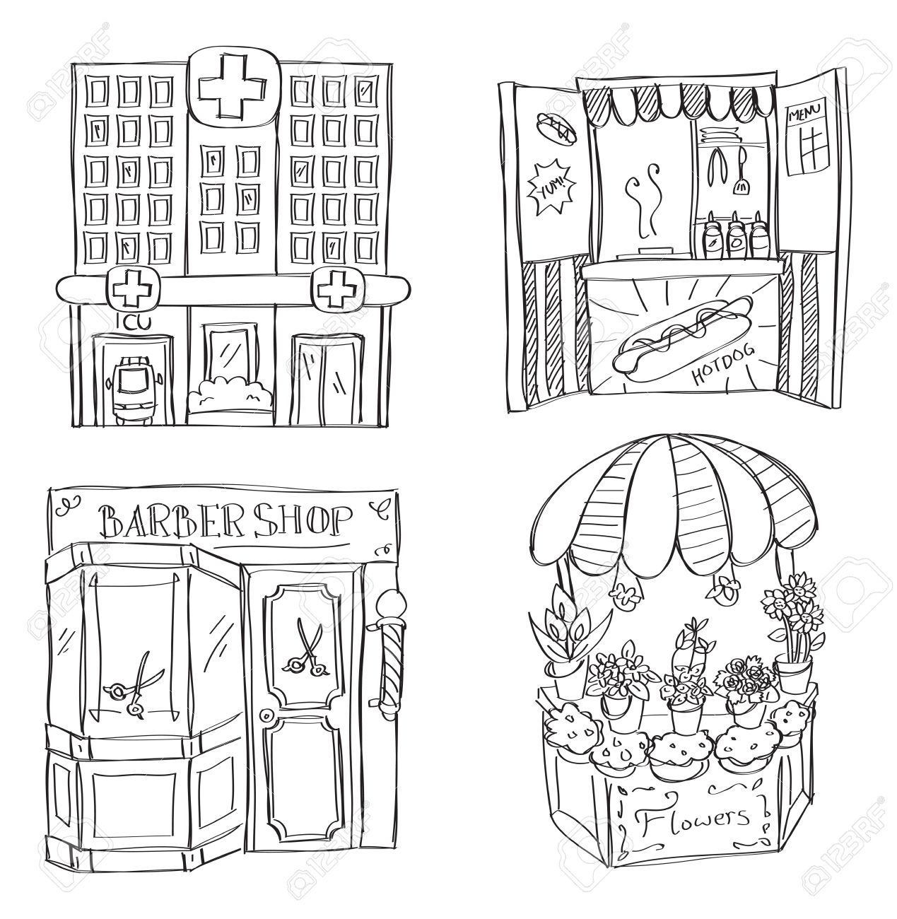 Barber Clipart Black And White 5
