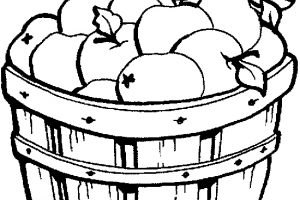 basket clipart black and white 2