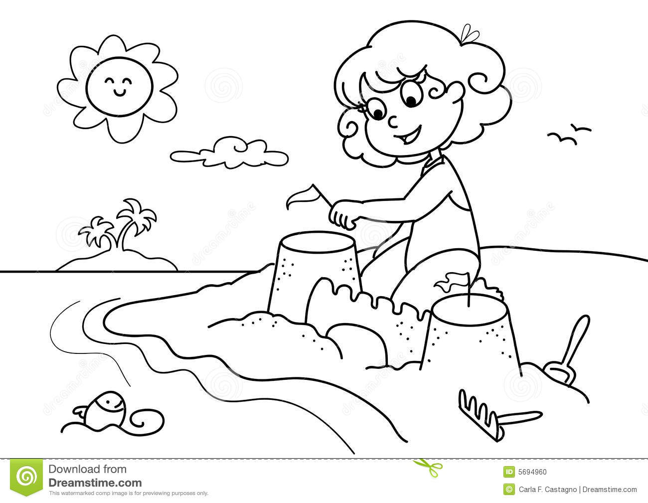 Beach clipart black and white 6 » Clipart Station