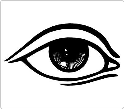 Beautiful eye clipart black and white 6 » Clipart Station