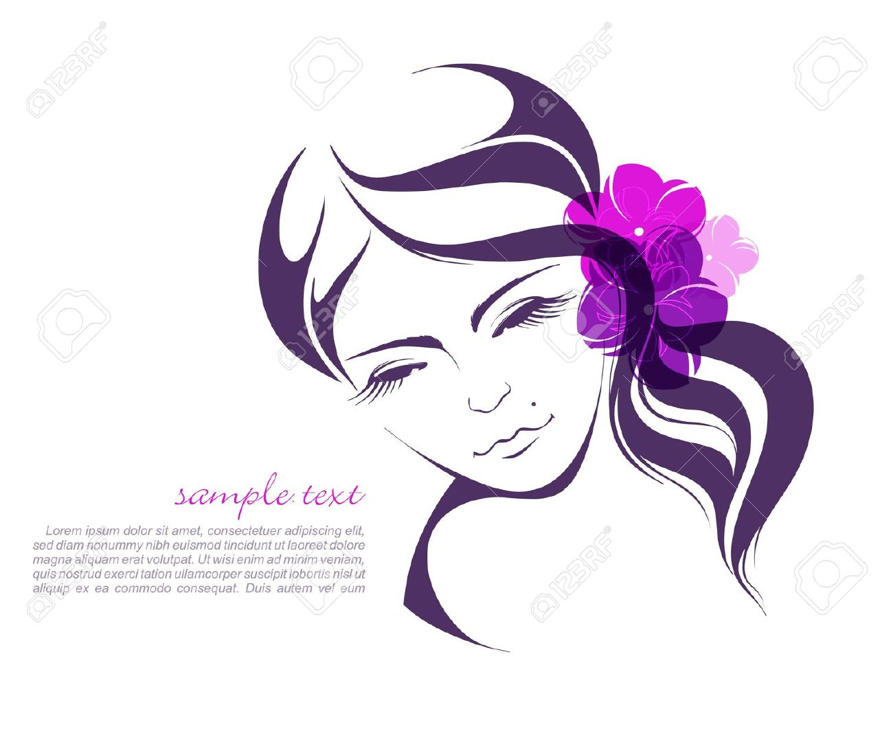Beauty parlour model clipart 9 » Clipart Station