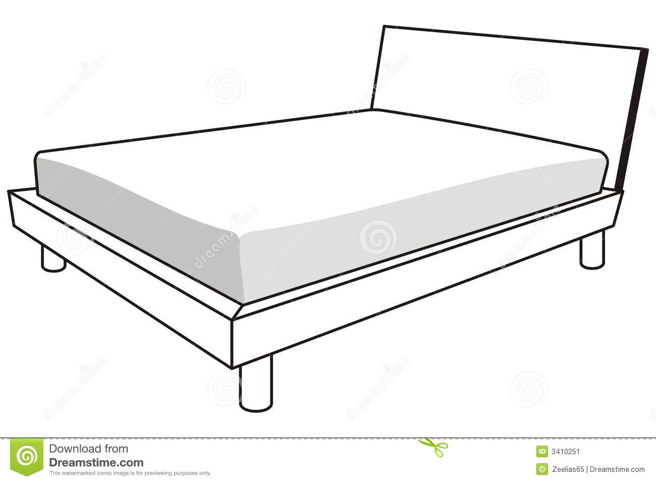 Bed Black And White Clipart 1 Station