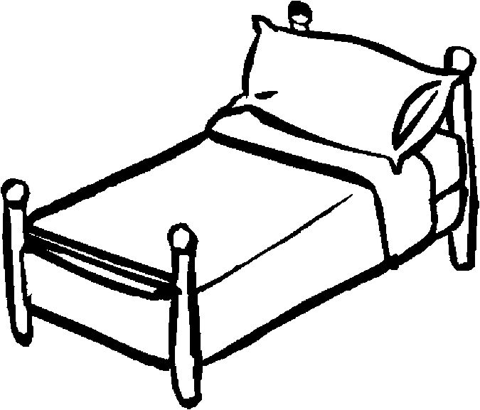 Bed Black And White Clipart 12 Station