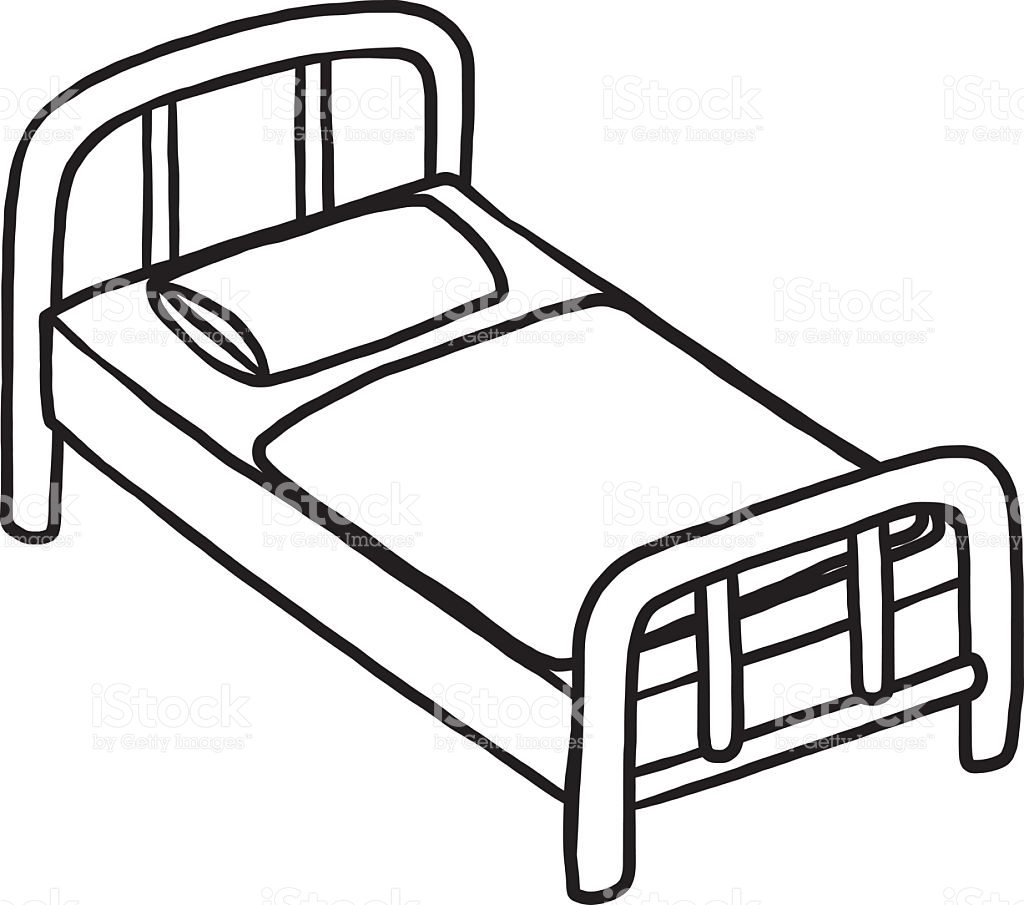 Bed Black And White Clipart 6 Station