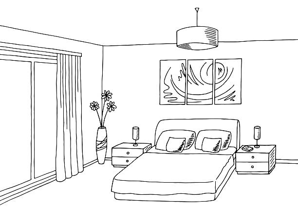 Bedroom Clipart Black And White 1