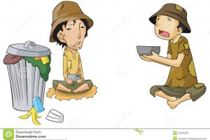 beggar child clipart