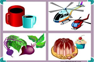 big and small objects clipart