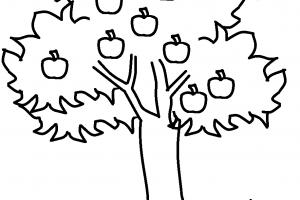 black and white tree clipart 2