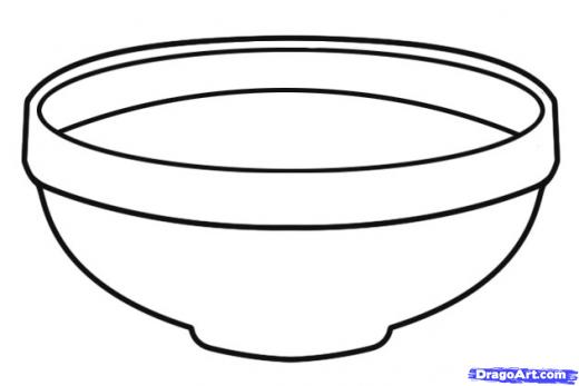 Bowl clipart black and white 6 » Clipart Station