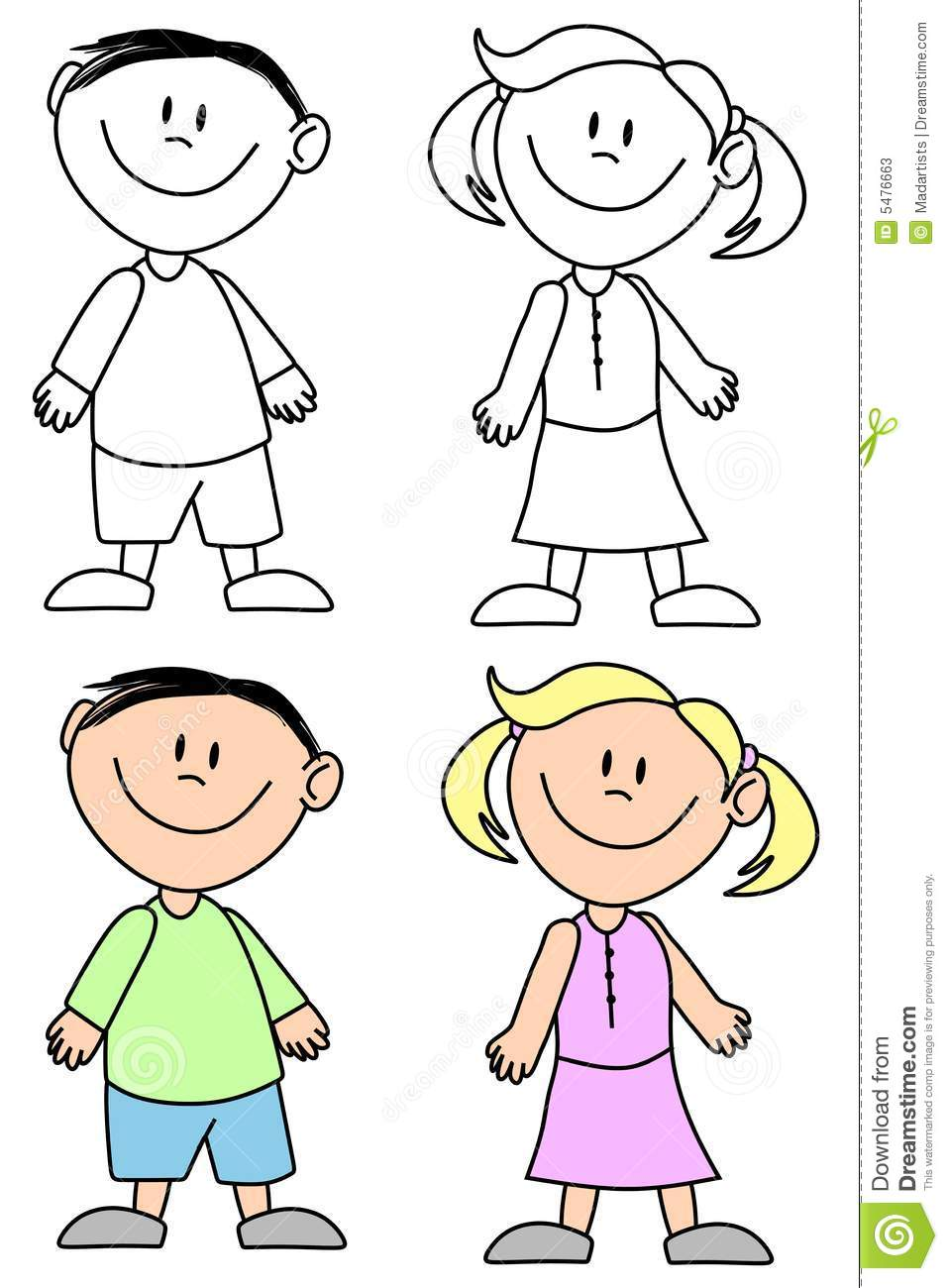 Boy And Girl Bedroom Decor: Boy And Girl Clipart Black And White 4 » Clipart Station