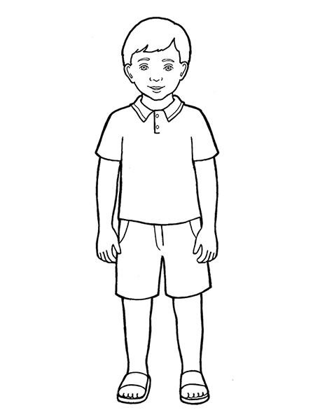boy black and white clipart 9 clipart station