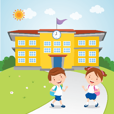 Boy going to school clipart 1 » Clipart Station
