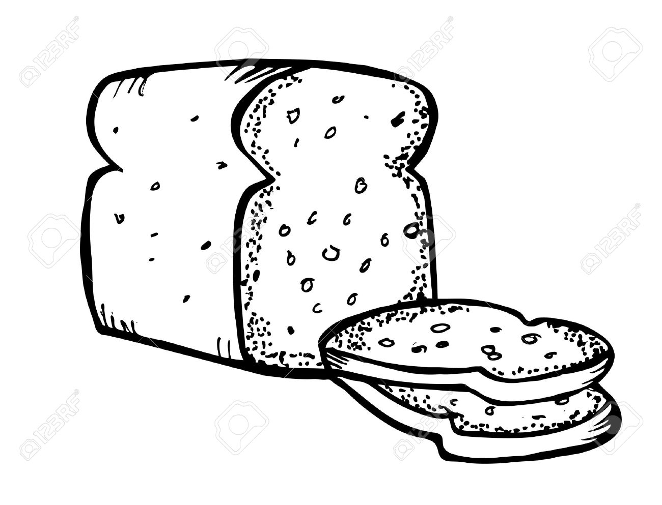 Baked Goods Clipart Color Page