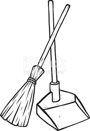 broom clipart black and white 5 | Clipart Station  Broom Clipart Black And White