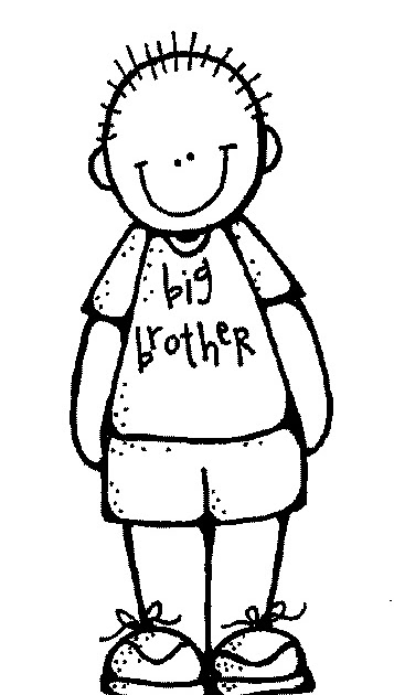 Brother clip art black and white