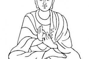 buddha clipart black and white