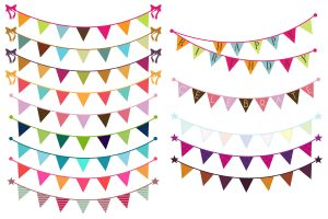 bunting clipart 4