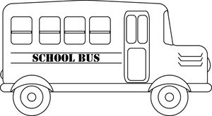 bus black and white clipart 1