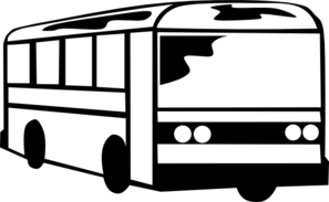 bus black and white clipart 3
