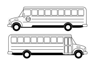 bus black and white clipart 4