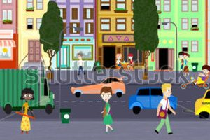 busy city clipart 10