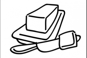 butter clipart black and white 1
