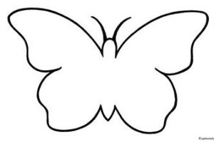 butterfly clipart black and white 4