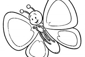 butterfly clipart black and white 5