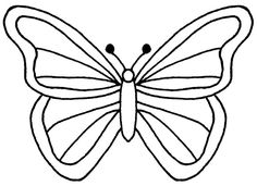 butterfly clipart black and white 6