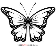 butterfly clipart black and white 7