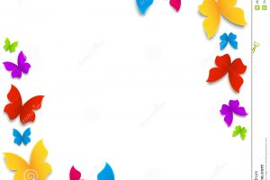 butterfly clipart border 11