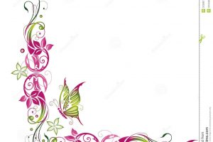 butterfly clipart border 12