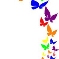 butterfly clipart border 4