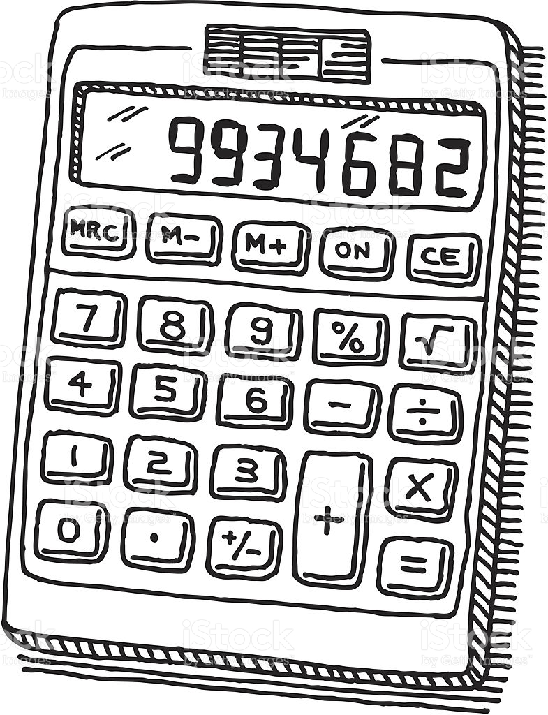 Calculator clipart black and white 5 » Clipart Station