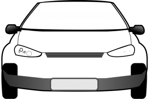 car front view clipart 5