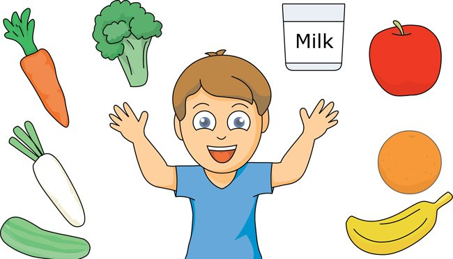 Child eating healthy food clipart 4 » Clipart Station