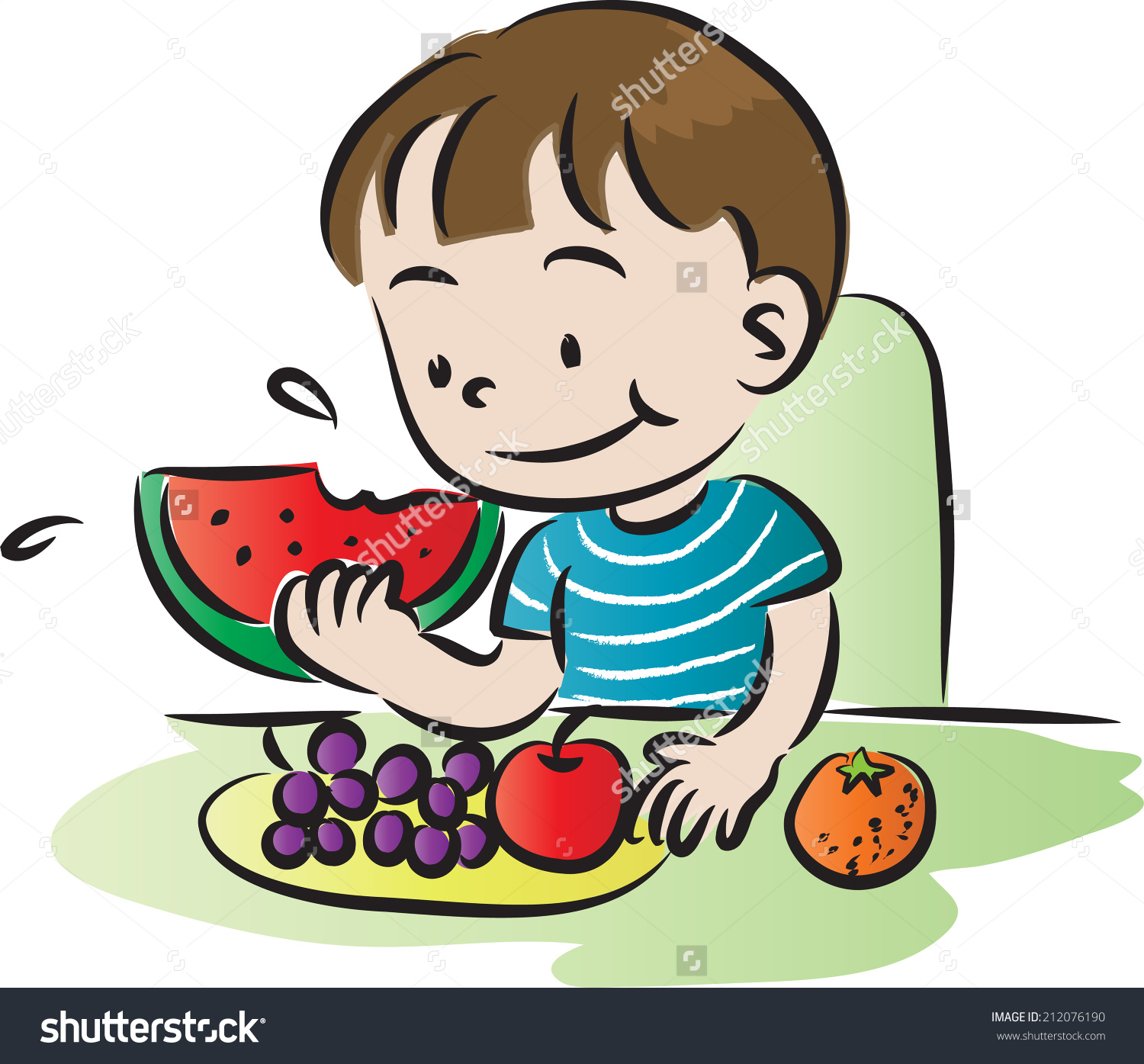 child eating vegetables clipart 9 | Clipart Station