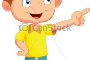 child pointing clipart 1