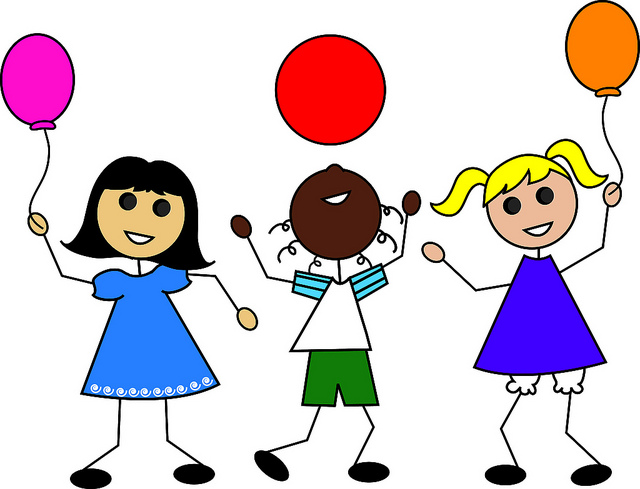 clip art illustration of cartoon kids with balloons clipart station rh clipartstation com kids clipart images kids clipart pictures