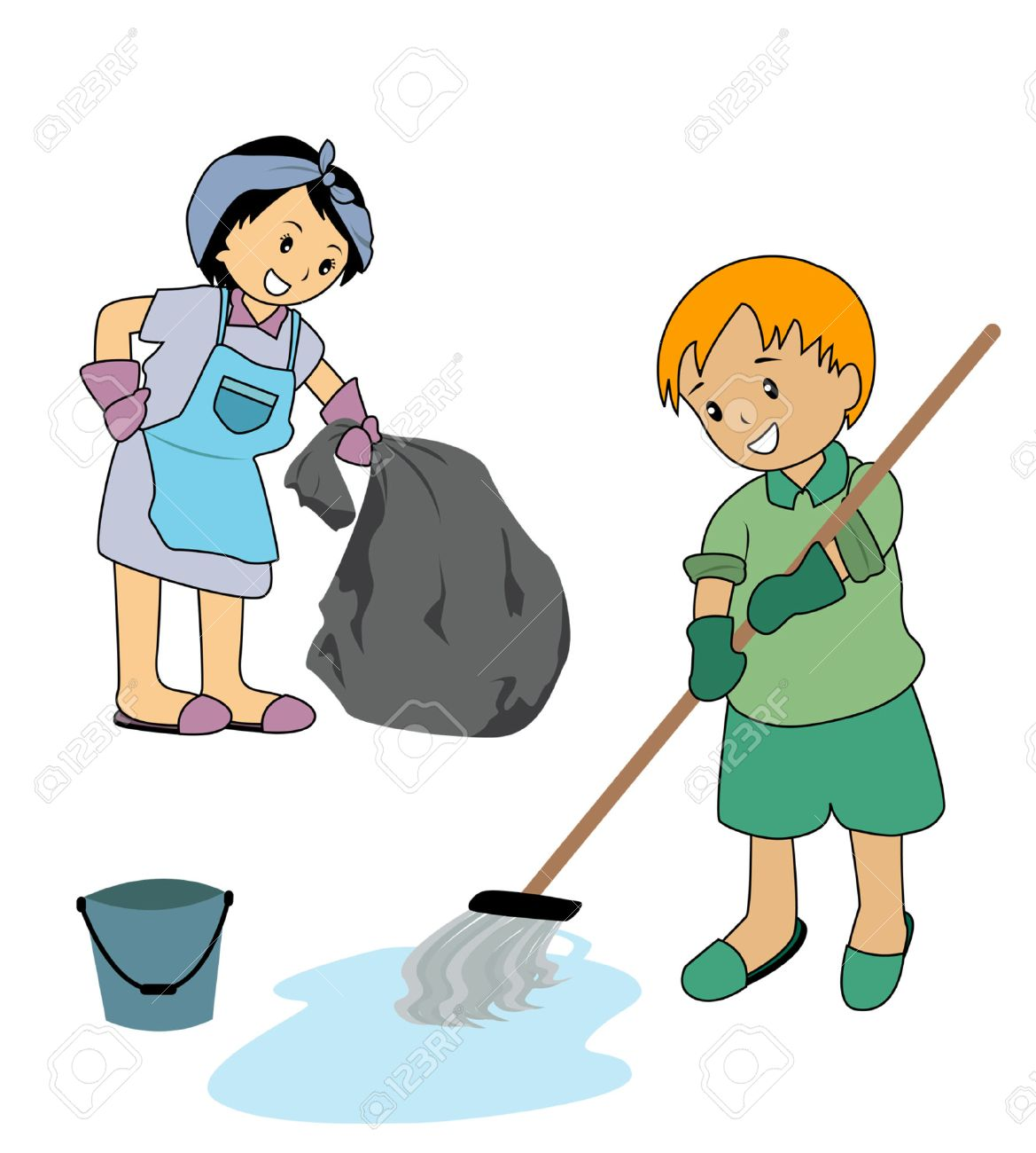 Children Cleaning Clipart 10 Clipart Station