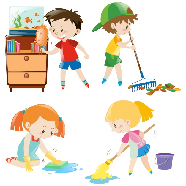 Children Cleaning Clipart 3 Clipart Station