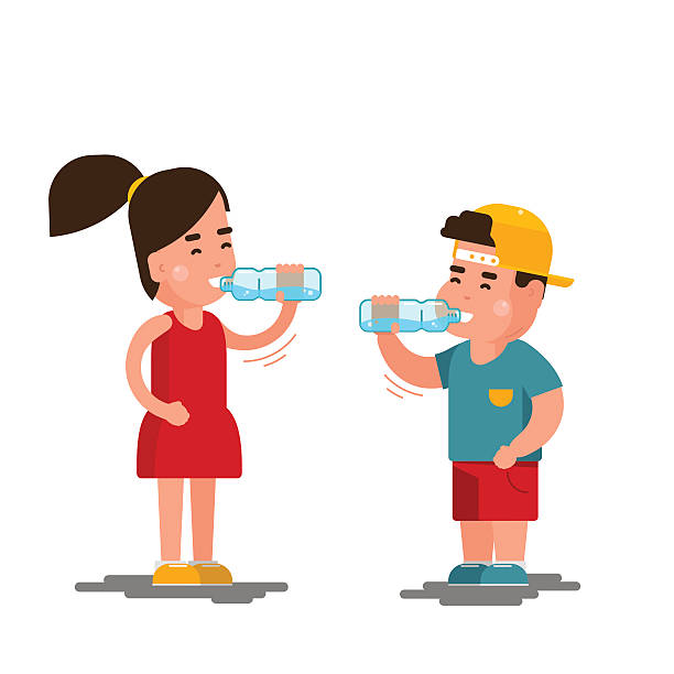 Station » Children 11 Water Drinking Clipart