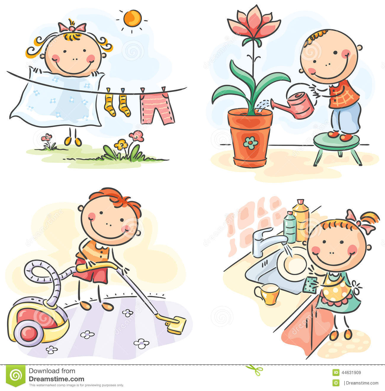 Children helping parents at home clipart 2 clipart station for Home pic