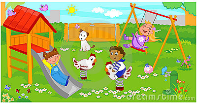 Children playing on playground clipart 13 » Clipart Station