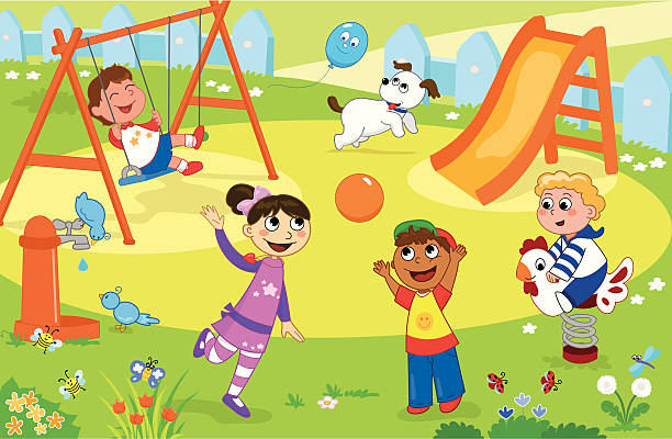 Children Playing On Playground Clipart 2 Clipart Station