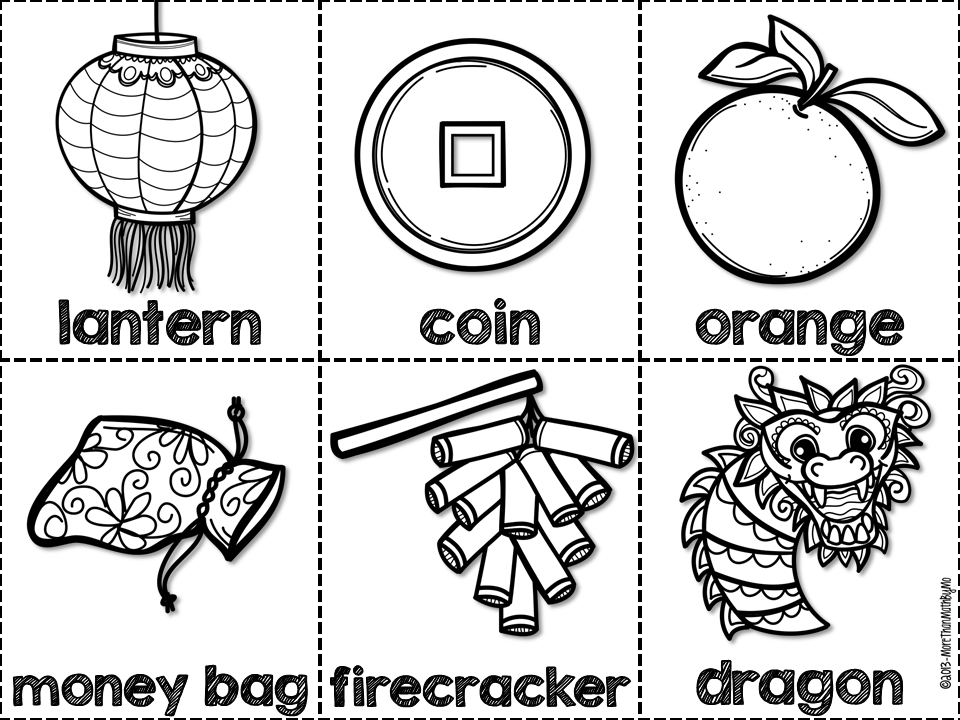 chinese new year clipart black and white | Clipart Station