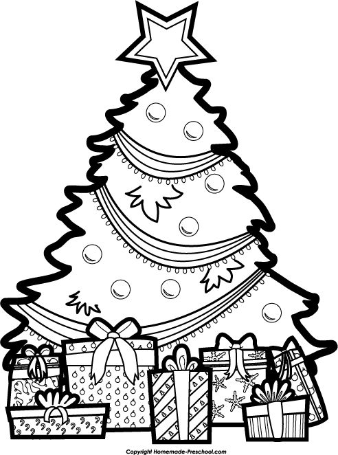Black And White Christmas Clipart.Tree Black And White Christmas Clipart Clipart Kid Clipart