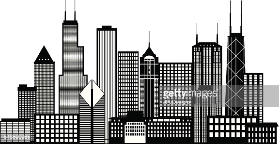 City buildings clipart black and white 1 » Clipart Station