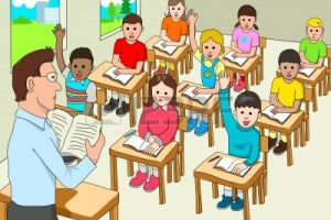 class room for kids clipart