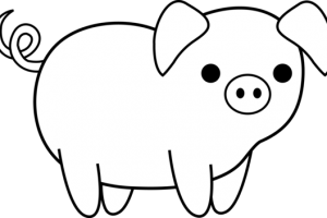 clipart animal black and white
